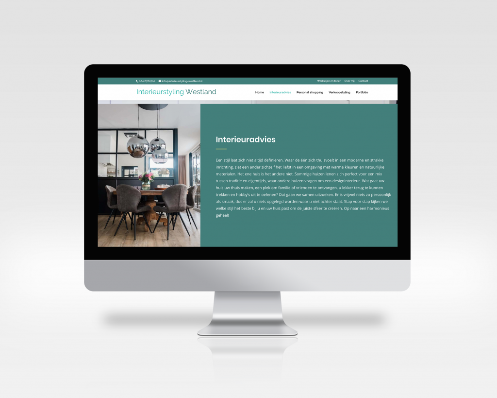 Website teksten interieurstyling westland