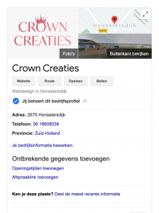 gevonden in Google
